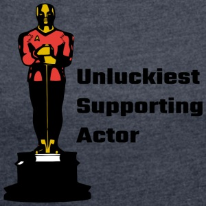 Unluckiest Supporting Actor - Women´s Rolled Sleeve Boxy T-Shirt