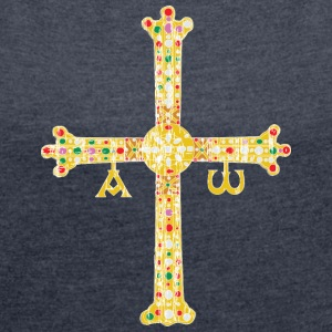 Cross of Asturias - Women´s Roll Cuff T-Shirt