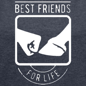 LIMITED EDITION BEST FRIENDS HOOF - Women's Roll Cuff T-Shirt