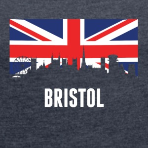 British Flag Bristol Skyline - Women´s Roll Cuff T-Shirt