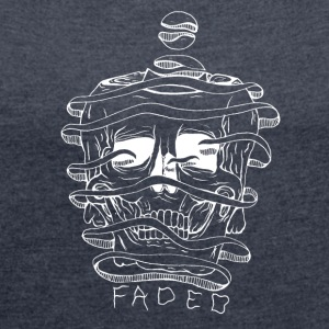 FADED white - Women's Roll Cuff T-Shirt