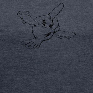 The Flying Bird - Women´s Roll Cuff T-Shirt