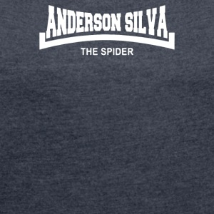 Anderson The Spider Silva Slogan - Women´s Rolled Sleeve Boxy T-Shirt