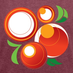 Abstract Oranges - Women´s Roll Cuff T-Shirt