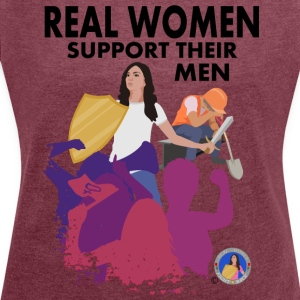Real Women: Worker - Women´s Rolled Sleeve Boxy T-Shirt