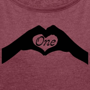 One Love - Women´s Rolled Sleeve Boxy T-Shirt
