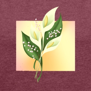 Calla Lillies - Women´s Roll Cuff T-Shirt