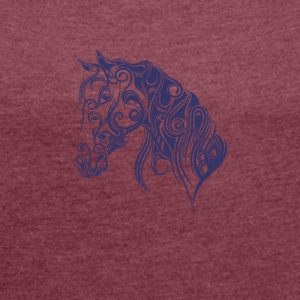 horse knight ride - Women´s Rolled Sleeve Boxy T-Shirt