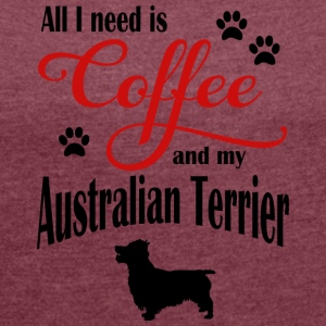 Australien Terrier Coffee - Women's Roll Cuff T-Shirt
