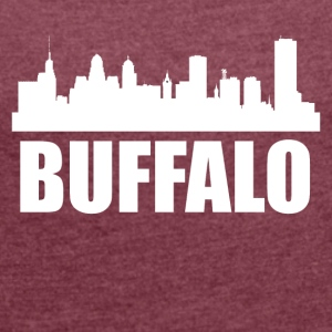 Buffalo NY Skyline - Women´s Roll Cuff T-Shirt