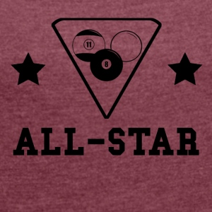 Billiards All Star - Women´s Roll Cuff T-Shirt