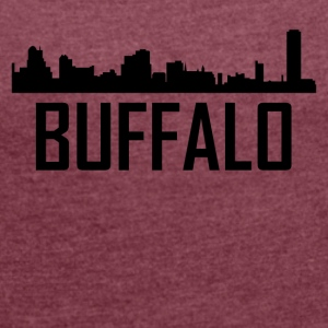 Buffalo New York City Skyline - Women's Roll Cuff T-Shirt