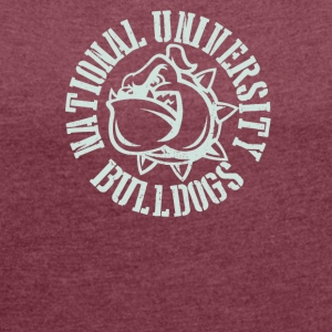 National univercity Bulldogs - Women's Roll Cuff T-Shirt