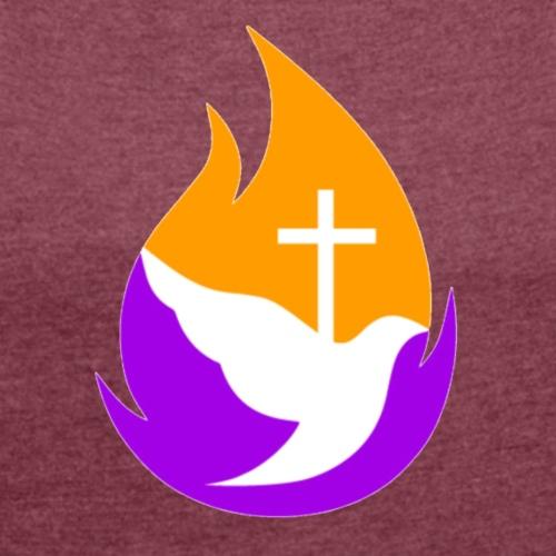 FP Logo New (flame symbol) - Women's Roll Cuff T-Shirt