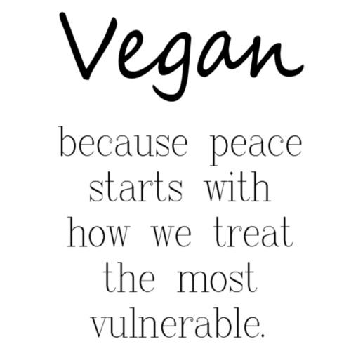 Vegan Because: Peace - Women's Roll Cuff T-Shirt