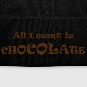 chocolate wanted - Knit Cap with Cuff Print
