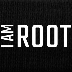 I am ROOT - Knit Cap with Cuff Print