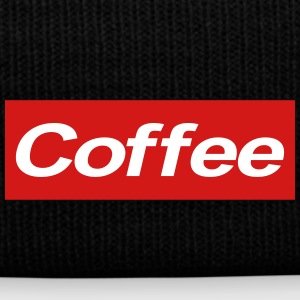 coffee supreme - Knit Cap with Cuff Print