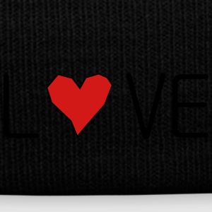 he_art_love - Knit Cap with Cuff Print