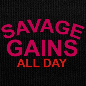 savage gains - Knit Cap with Cuff Print