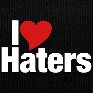 I Love Haters - Knit Cap with Cuff Print