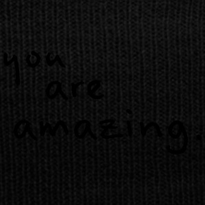 You Are Amazing! - Knit Cap with Cuff Print