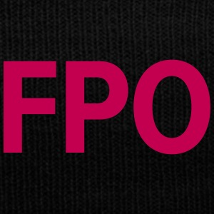 FPO — For Placement Only - Knit Cap with Cuff Print