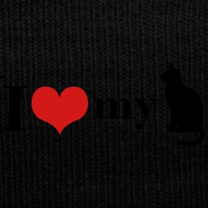 I love my Cat - Knit Cap with Cuff Print