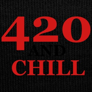 420 and chill - Knit Cap with Cuff Print