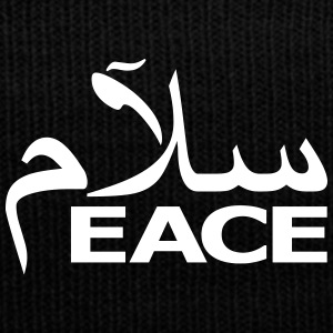 SALAM PEACE - Knit Cap with Cuff Print