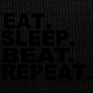 Eat Sleep Beat Repeat - Knit Cap with Cuff Print