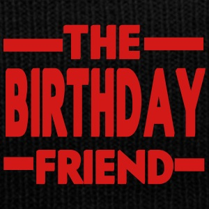 The Birthday Friend - Knit Cap with Cuff Print