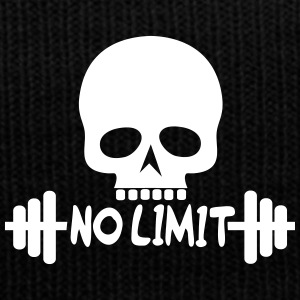 No Limit / Bodybuilding / Skull - Knit Cap with Cuff Print