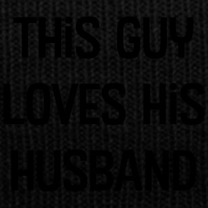This Guy Loves His Husband - Knit Cap with Cuff Print