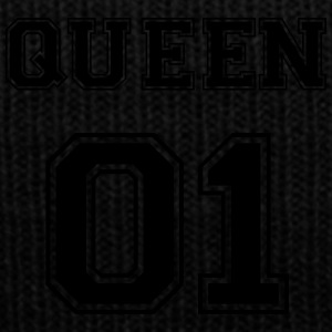 Queen_1 - Knit Cap with Cuff Print