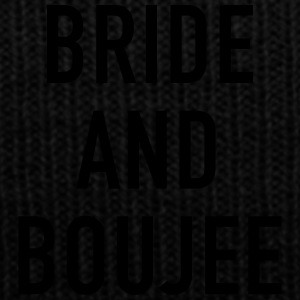 Bride and Boujee - Knit Cap with Cuff Print