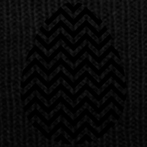 Black Easter Egg Chevron - Knit Cap with Cuff Print