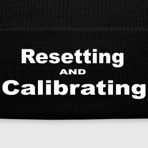 Resetting and Calibrating - Knit Cap with Cuff Print
