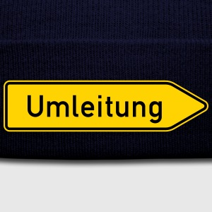 Umleitung Right - German Traffic Sign - Knit Cap with Cuff Print
