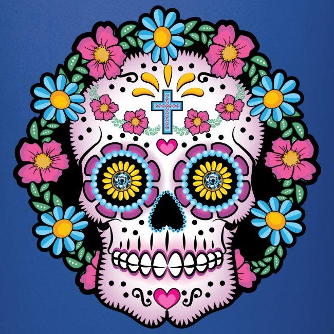 Dia De Los Muertos Sugar Skull - Full Color Mug Clothes Hound Shop