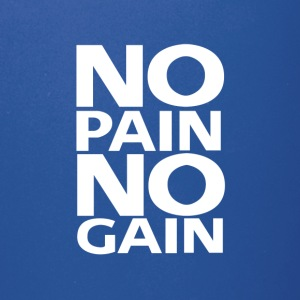No Pain No Gain logo | White - Full Color Mug