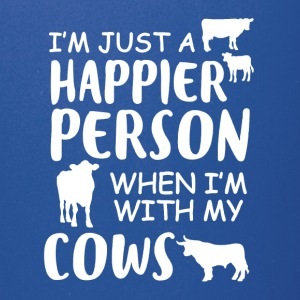 Happy With My Cows Tee Shirt - Full Color Mug