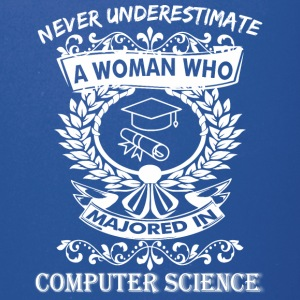 Never Underestimate Woman Majored Computer Science - Full Color Mug