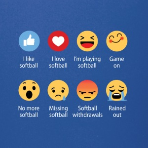 Softball emojication funny - Full Color Mug