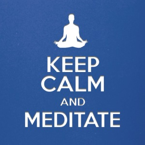 keep calm and meditate, Yoga meditation gifts - Full Color Mug