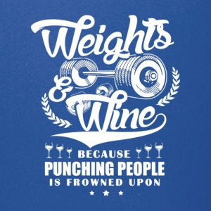 Weights And Wine - Full Color Mug