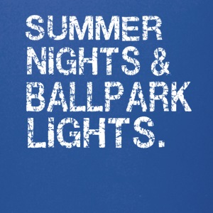 Summer nights and ballpark lights - Full Color Mug
