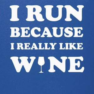 I Run Beacause I Really Like Wine T-SHirt - Full Color Mug