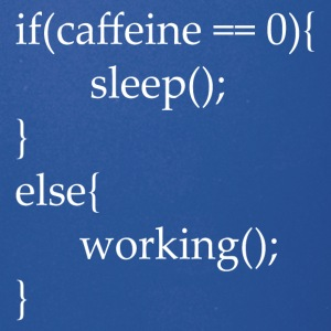 I code with caffeine - Full Color Mug