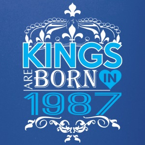 Kings Are Born In 1987 Happy Fathers Day - Full Color Mug